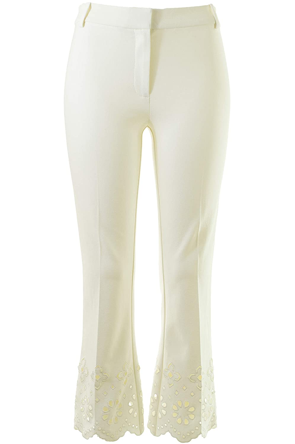 774b260891 Amazon.com: Derek Lam 10 Crosby Eyelet-Detailed Stretch-Cotton Crop Pants  in Soft White: Clothing