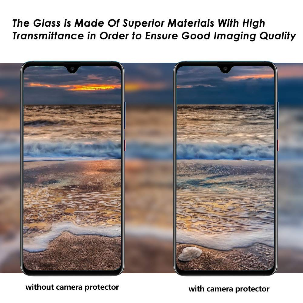 Lywey 2PCS No Hole Tempered Glass Protector Camera Film for Samsung Galaxy S10/S10+ by Lywey (Image #4)