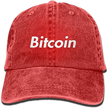 DSFIOWX Gorras de béisbol Rojas de Bitcoin Sombreros de Mezclilla ...