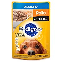 Pedigree Alimento Húmedo Adulto Pollo en Filetes, 10 Case