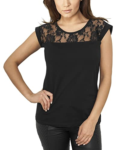 Urban Classics Ladies Top Laces Tee, T-Shirt Donna