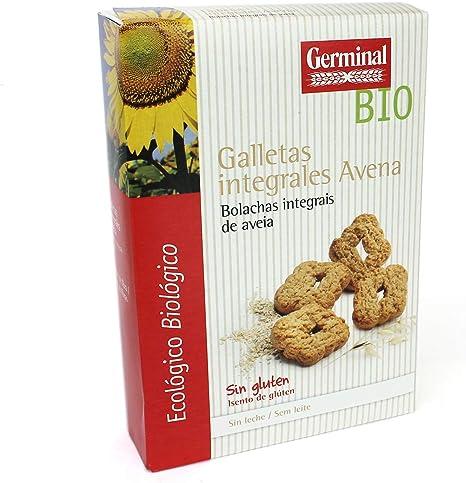 Galletas integrales de avena sin gluten BIO - Germinal - 250g (caja 8 uds - Total: 2kg)