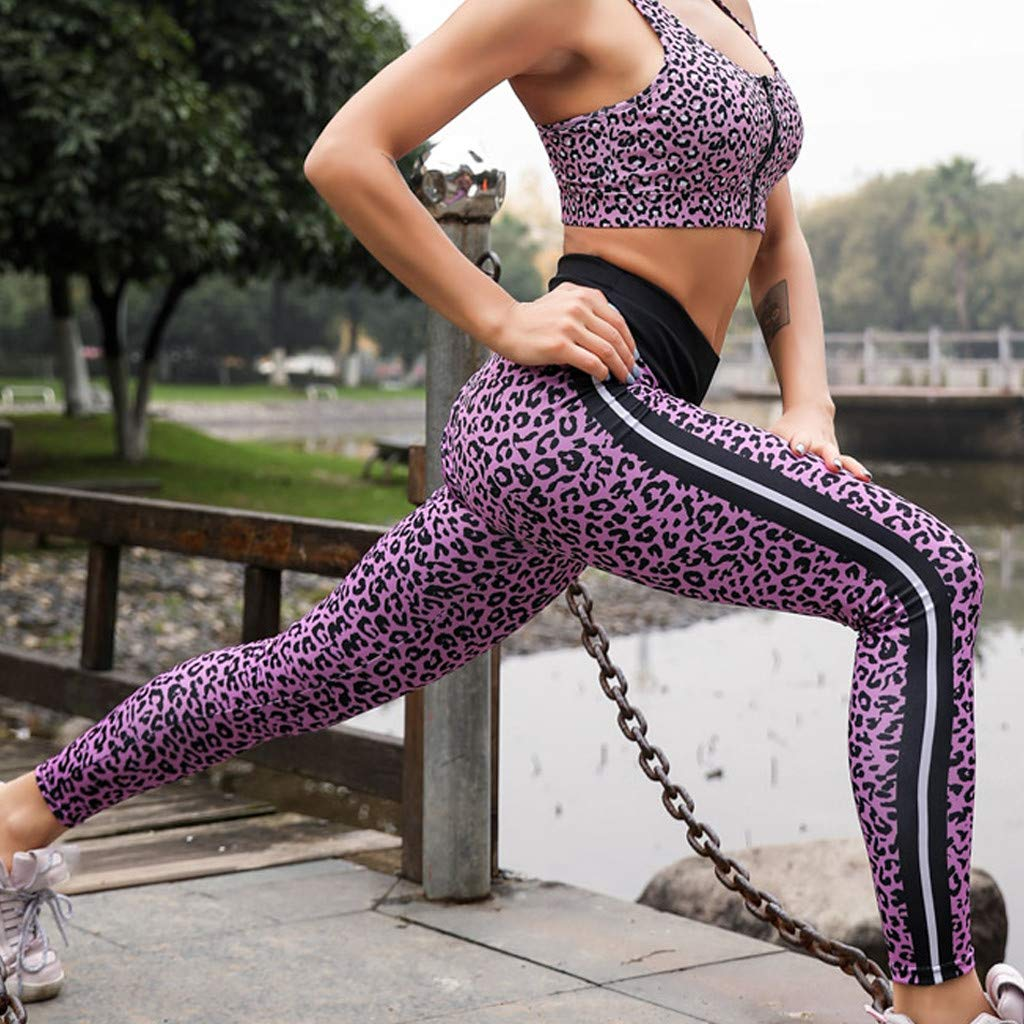Womens Running Sports Pants, Mosunx Girls High Waist Yoga ...