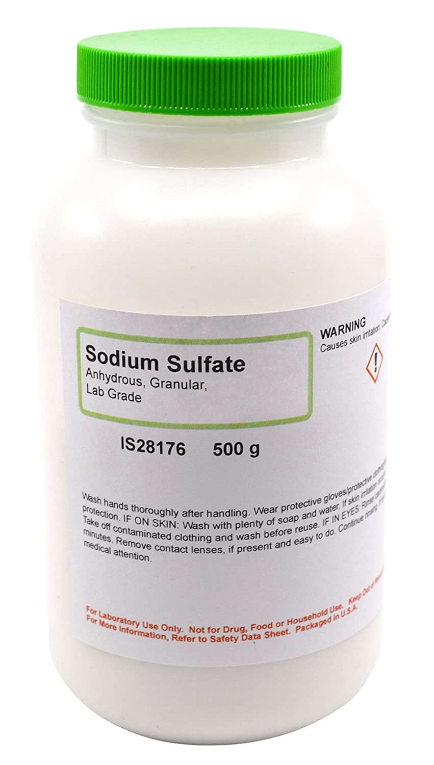 Laboratory-Grade Sodium Sulfate, Granular, Anhydrous, 500g - The Curated Chemical Collection
