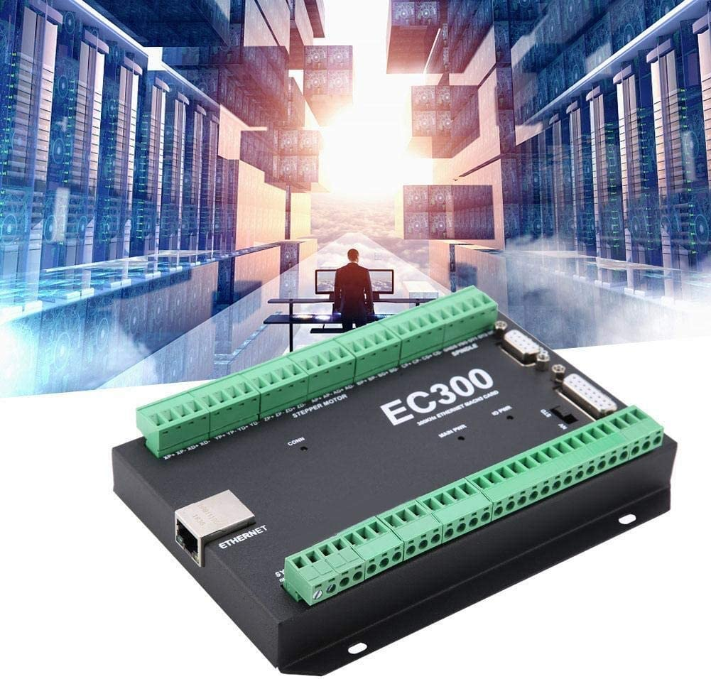 4 Axis Maxmartt 3-6 Axis 300kHz?Ethernet CNC Mach3 Motion Controller Control Card Board 24VDC EC300