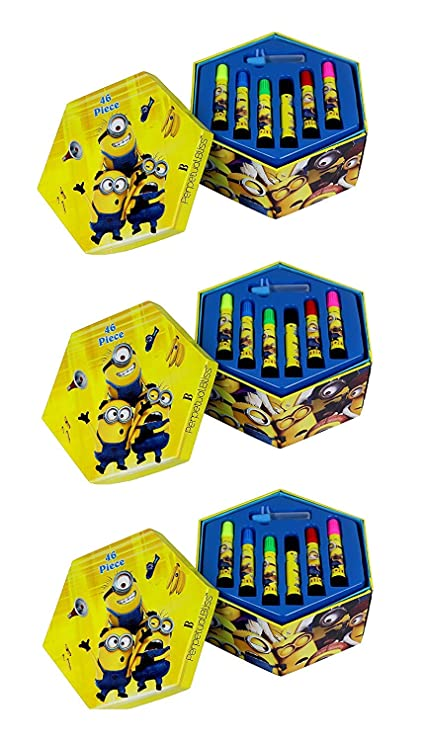 9603169d05 Laxmi Collection Perpetual Bliss Round Color Kit Gift Set for Kids-Pack of  3  Amazon.in  Home   Kitchen