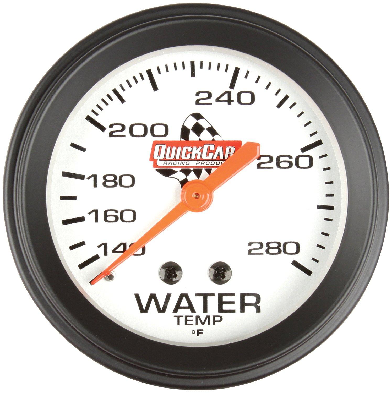 QuickCar Racing Products 611-6006 2-5//8 Diameter Water Temperature Gauge