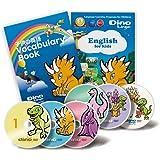 子供の英語学習DVD6枚&学習ブック【日本限定版】見ているだけで、話せる言葉がどんどん増える英会話セット/Dino Lingo Japan