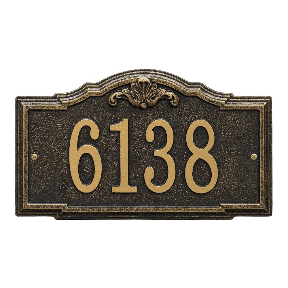Whitehall Custom Gatewood Standard Wall Aluminum Address Plaque 14.25'' W x 8.5'' H (1 Line)