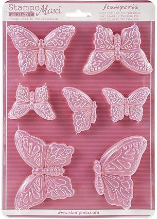 """Molde maxi plástico flexible cm.21 x 29,7"""" K3PTA415 mariposas"""