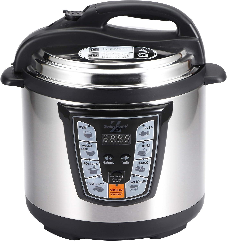 MasterPro Foodies Q3308 Olla presión eléctrica 6l 1000w: Amazon.es: Hogar