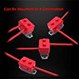 Ampper DC 12V - 24V Automatic Reset Circuit Breaker with Cover Stud Bolt for Automotive and More