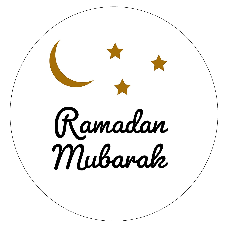 24 pcs 1.5 Ramadan Mubarak Twinkle Theme Star Crescent Circle Self Adhesive Stickers
