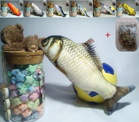 Maibar juguetes gatos 3D juguetes para gatos pescado inteligencia mariposa gatos hierba gatera Interactivo para gatos