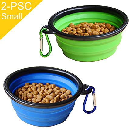STARUBY Collapsible Dog Bowl 2 Pack Foldable Pet Travel Bowl Outdoor C&ing Pet Food Water  sc 1 st  Amazon.com & Pet Supplies : STARUBY Collapsible Dog Bowl 2 Pack Foldable Pet ...