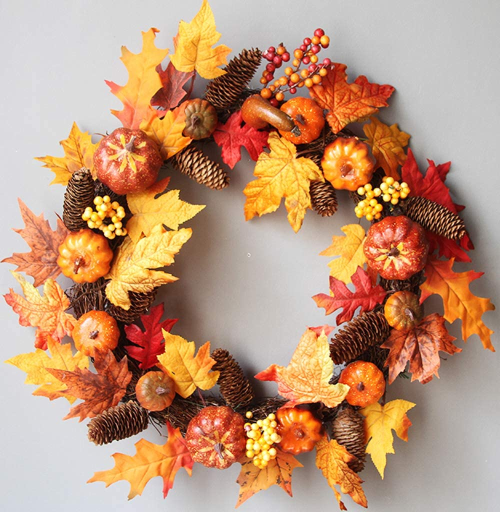 24 inch Pumpkin Harvest Wreath