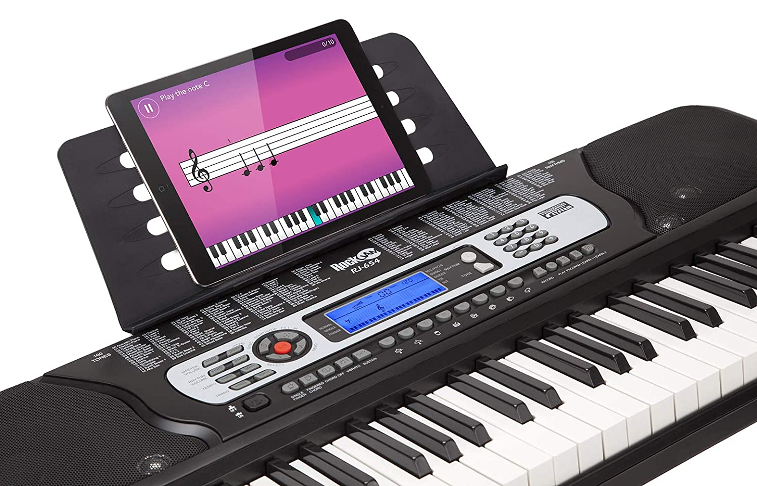 RockJam 54-Key Portable Electronic Keyboard Piano With Power Supply, Sheet  Music Stand and Simply Piano App