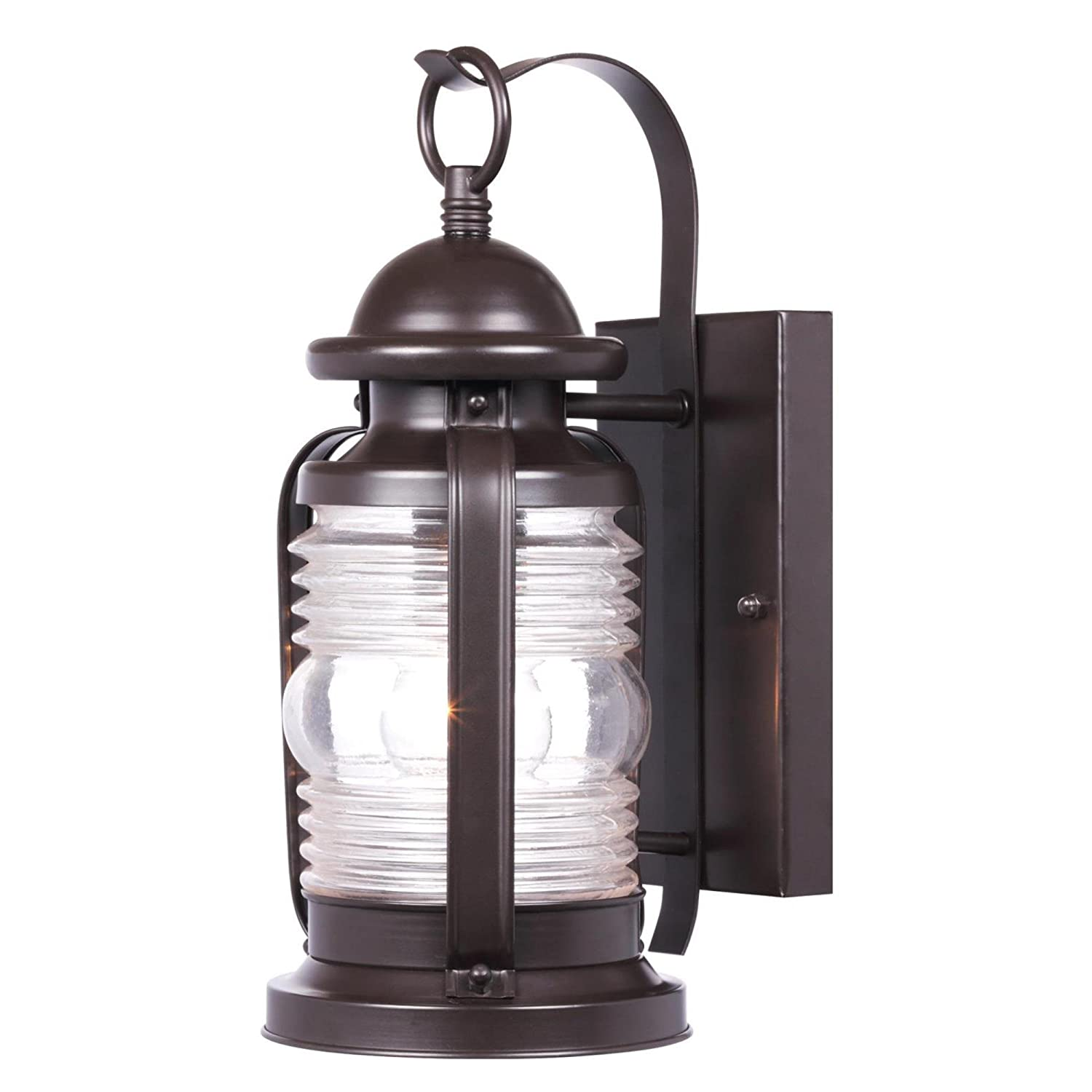 Westinghouse 6230100 Weatherby One-Light Outdoor Wall Fixture, Weathered Bronze Finish with Clear Glass