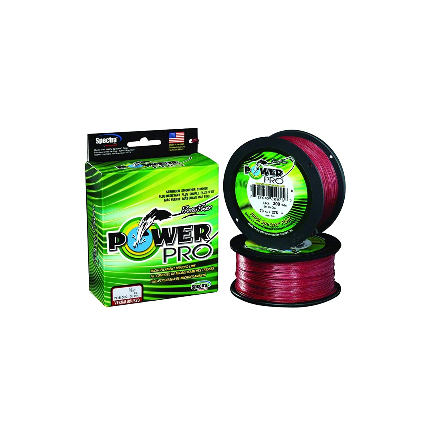 Power Pro Braided Spectra Line 50lb by 300yds Red 4953
