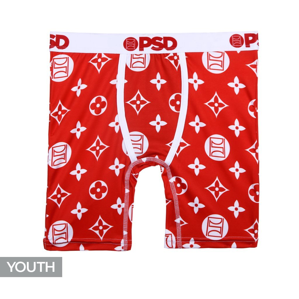 PSD Underwear Youth The Pattern Athletic Boxer Brief, Red Y11821002-P