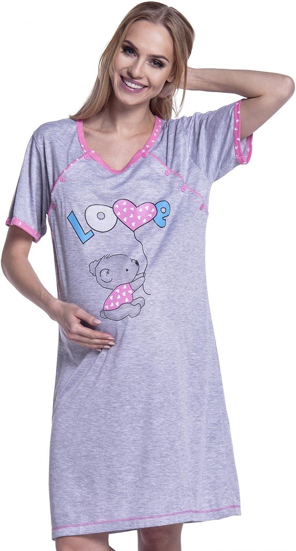 Happy Mama para Mujer Camis/ón Estampado Premam/á de Embarazo y Lactancia 141p