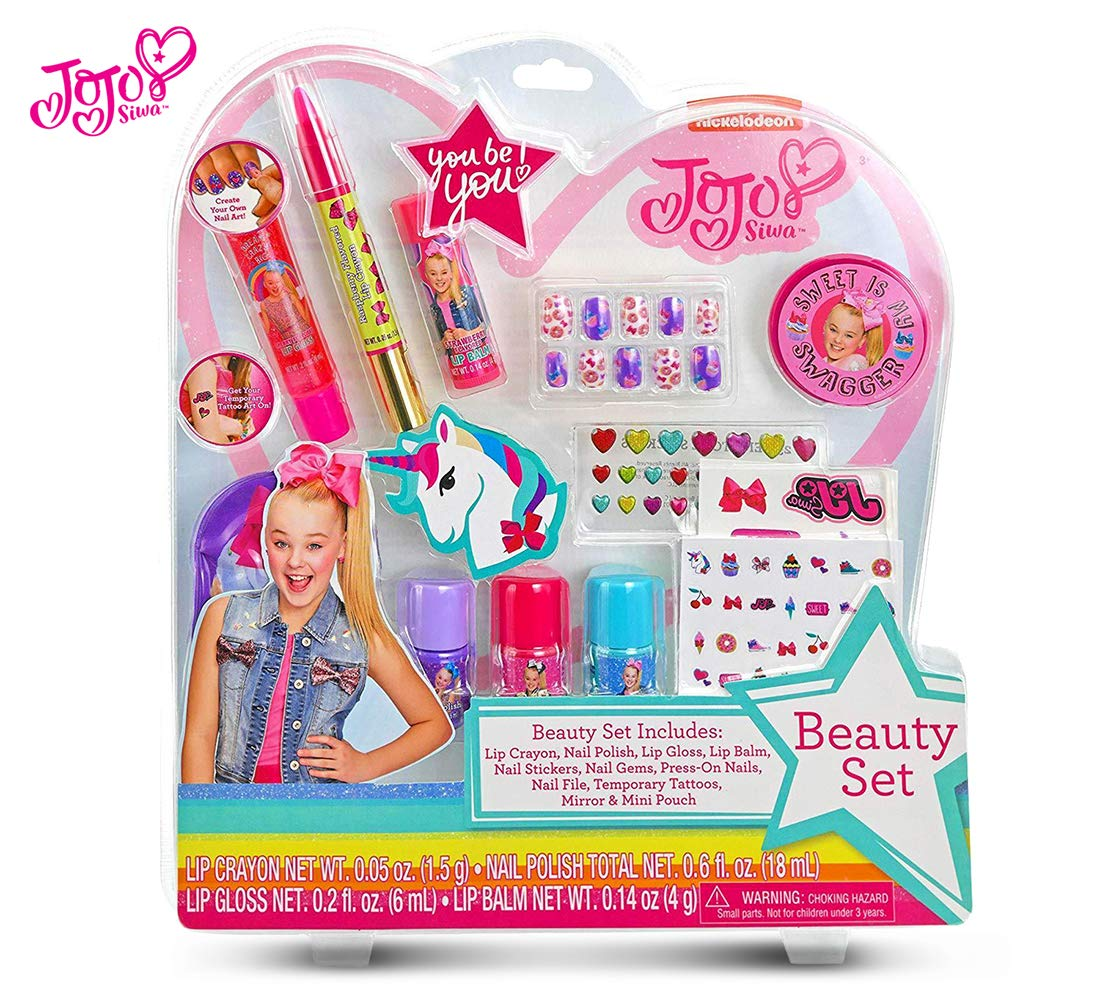 Warp Gadgets Bundle - JoJo Siwa Beauty Cosmetic Set and White Rhinstone and Neon Green Basic Bows on Metal Salon Clip (3 Items) by Warp Gadgets (Image #2)