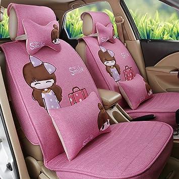 Amazon Com Ankiv Pink Full Set Universal Fit 5 Seats Car Women