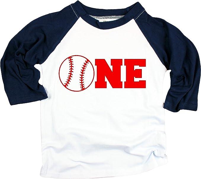 Amazon.com: Playera de béisbol para niños de 1er cumpleaños ...