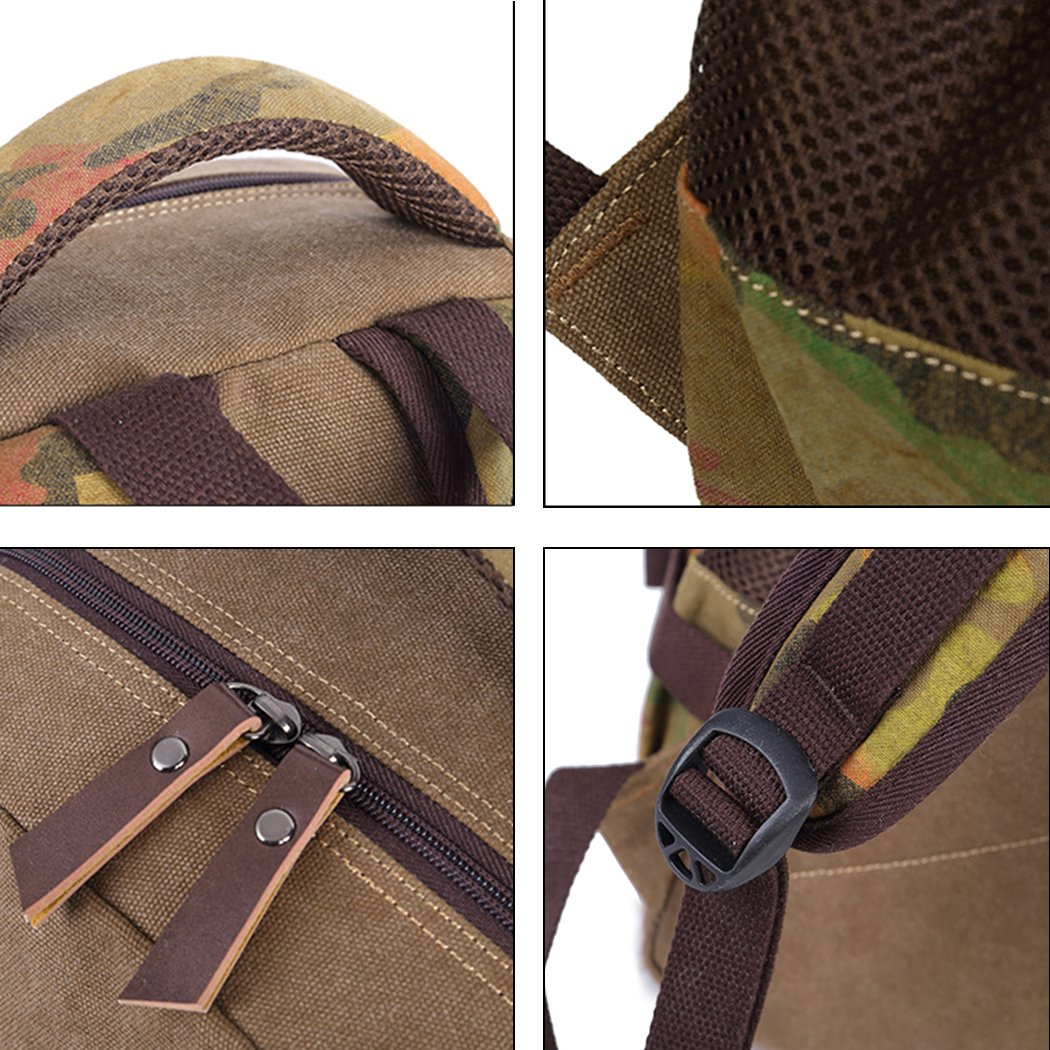 Cartable sac a dos camouflage sac ecole sac /à dos scolaire coll/ège avec port de charge USB Bleu YoungSoul sac dos ado garcon fille