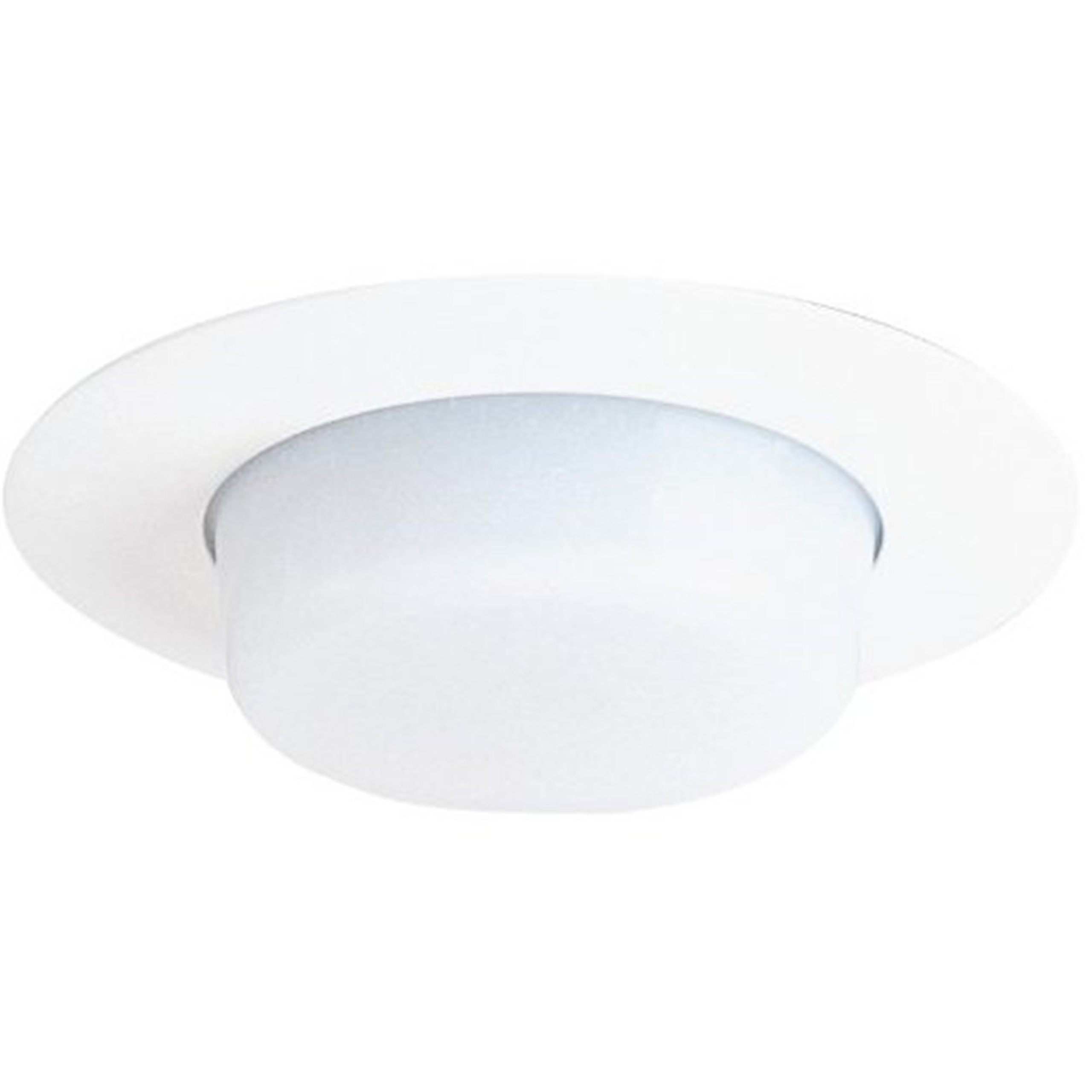 Juno Lighting 11-WH 4-Inch Drop Opal Trim, White with White Lens