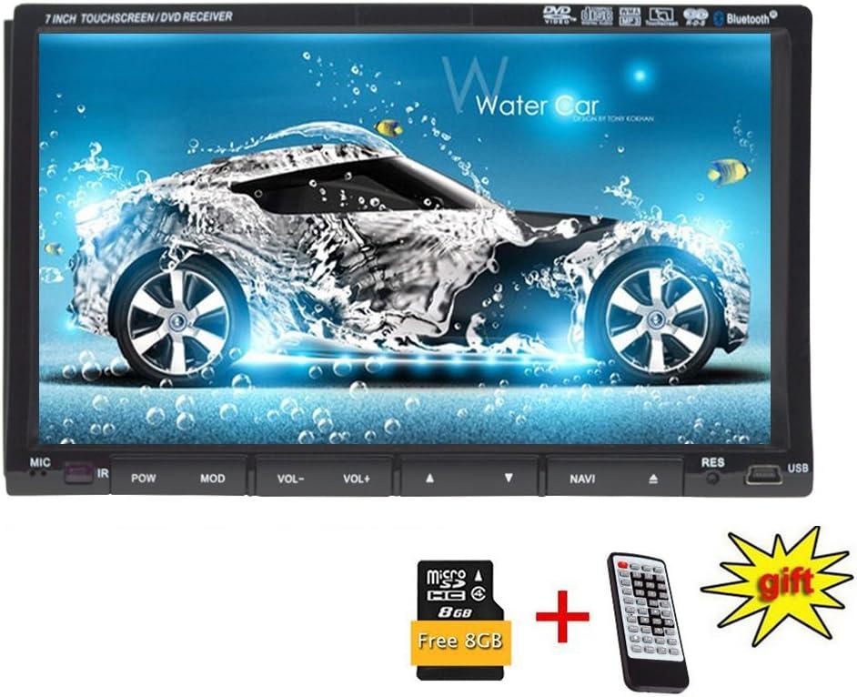 control del volante REAKOSOUND 7 pulgadas de pantalla t/áctil capacitiva Doble Din Car Audio est/éreo Video MP5 Reproductor Radio para coche con Bluetooth