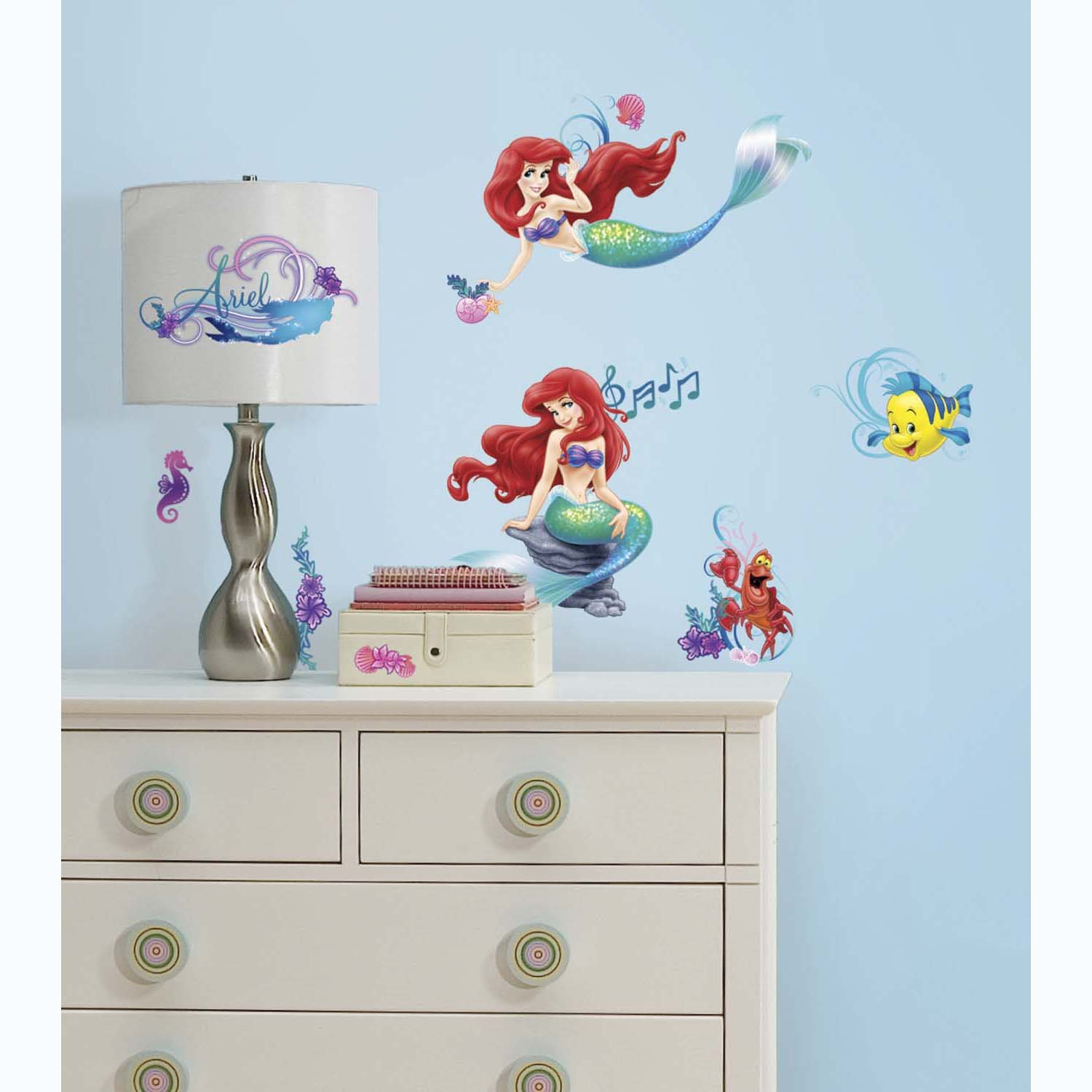 Roommates rmk2347scs the little mermaid peel and stick wall decals roommates rmk2347scs the little mermaid peel and stick wall decals 1 pack decorative wall appliques amazon amipublicfo Images