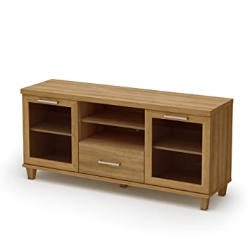 Amazon Com South Shore Adrian Collection Tv Stand Harvest Maple