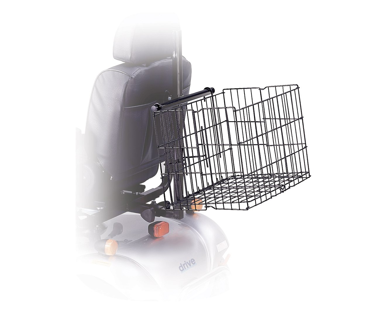 Drive Medical Scooter Basket, 15. 5'' x 16. 9 x 24. 8''