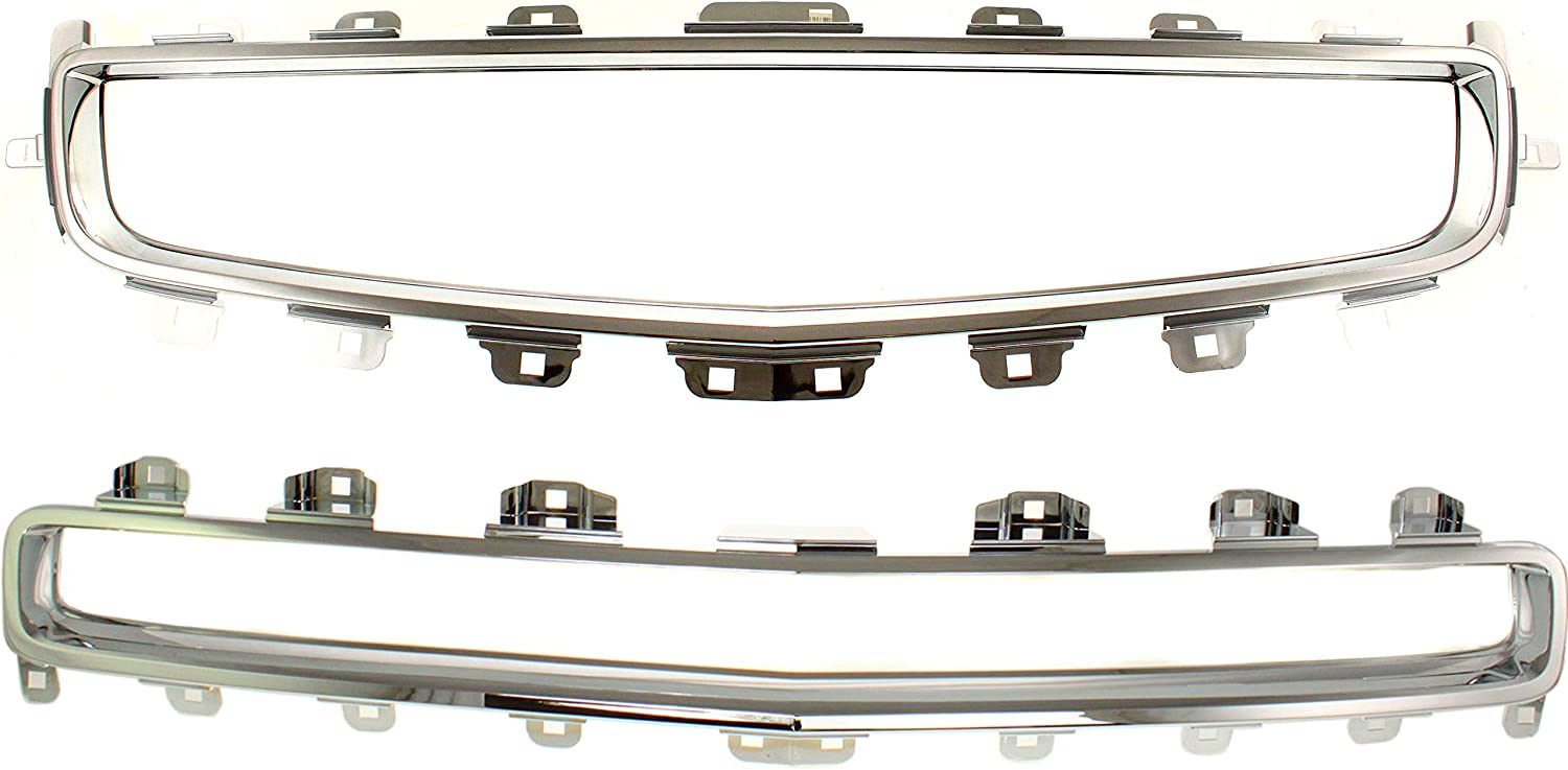 Grille Assembly Compatible with 2008-2012 Chevrolet Malibu Set of 3