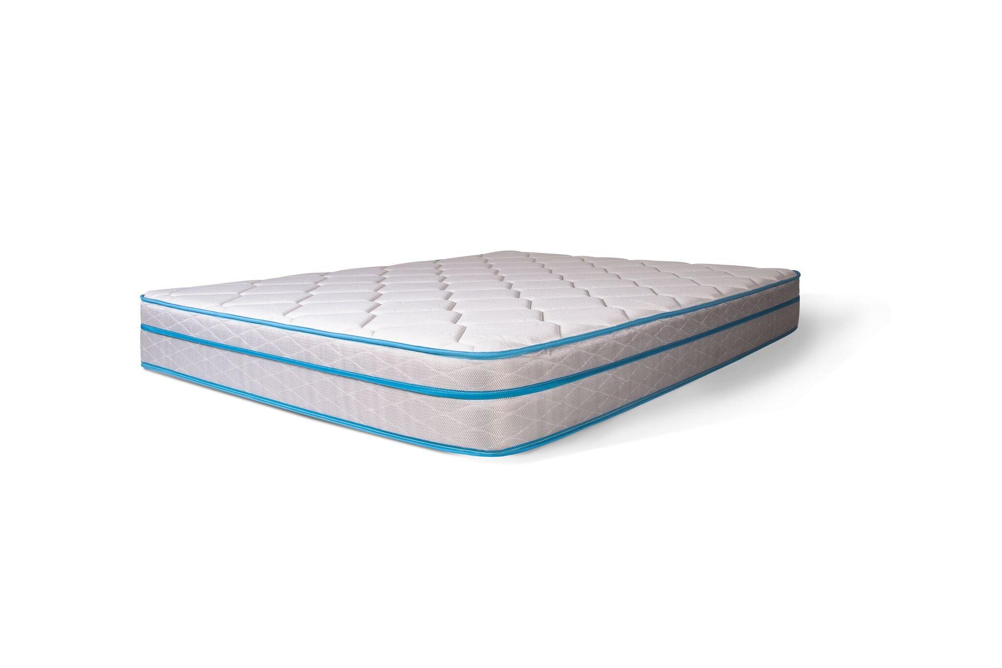 Dreamfoam Bedding Doze 11'' Plush Pillow Top Mattress, Short Queen- Made in the USA