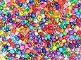 1000pk Metallic/Pearlised/Glitter/Bright Pony Beads 4-in-1 Assortment