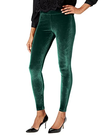 96172e55fd1bf Hue Velvet Leggings (M, Deep Forest) at Amazon Women's Clothing store: