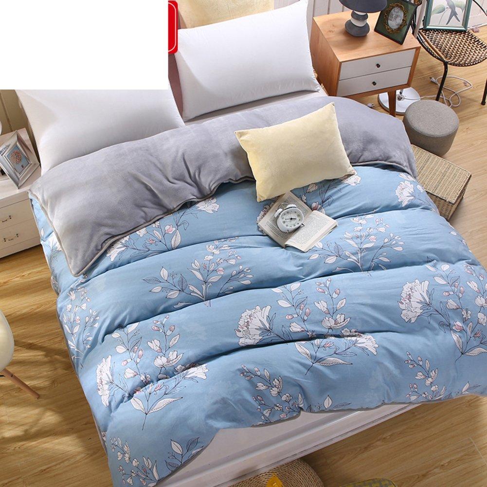 MLAOQPSJFYE Couverture Double Couette Chaude Quilts pour Deux Personnes Housse Couette /épaisse /épaissie suppl/émentaire Simple Housse de Couette-A 160x210cm 63x83inch