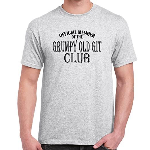 e0b74fd1fd Image Unavailable. Image not available for. Color: Starlite-Mens Funny  Tshirts-Grumpy Old Git Club T-Shirts-funny gifts