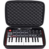 LTGEM Travel Hard Carrying Case for Akai Professional MPK Mini MKII & MPK Mini Play | 25-Key Ultra-Portable USB MIDI…