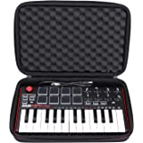 LTGEM EVA Hard Case for Akai Professional MPK Mini MKII | 25-Key Ultra-Portable USB MIDI Drum Pad & Keyboard Controller (black)