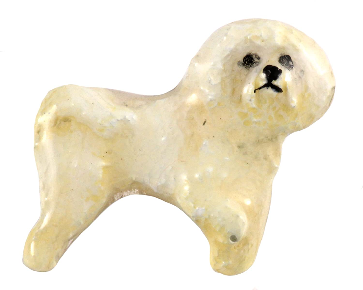 D326F Bichon Frise Dog Pewter Lapel Pin Jewelry Brooch