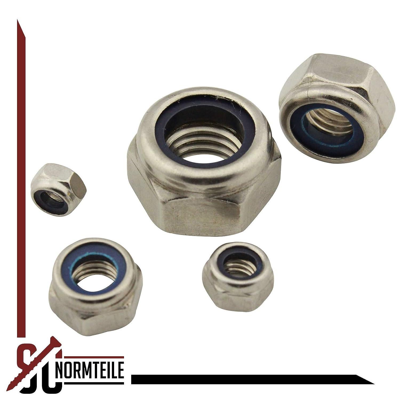SC-Normteile rostfreier Edelstahl A2 Standard 50 St/ück Sicherungsmuttern SC985 DIN985 | Stoppmuttern V2A // NIRO M6