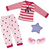 """Glitter Girls by Battat - Ladybug Shimmer Pajama Top & Pant Regular Outfit - 14"""" Doll Clothes & Accessories Toys"""