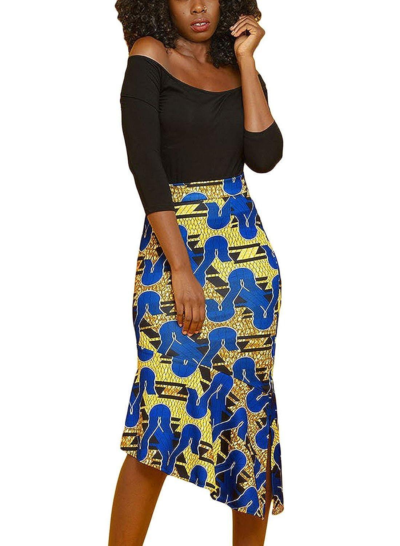 943b03f6d6 High Waist African Print Skirts Images