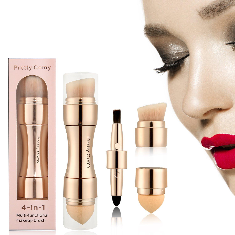 4 en 1 Cepillo de maquillaje sombra de ojo/Rostro/Blush/Lip para Vayage By Pretty Comy