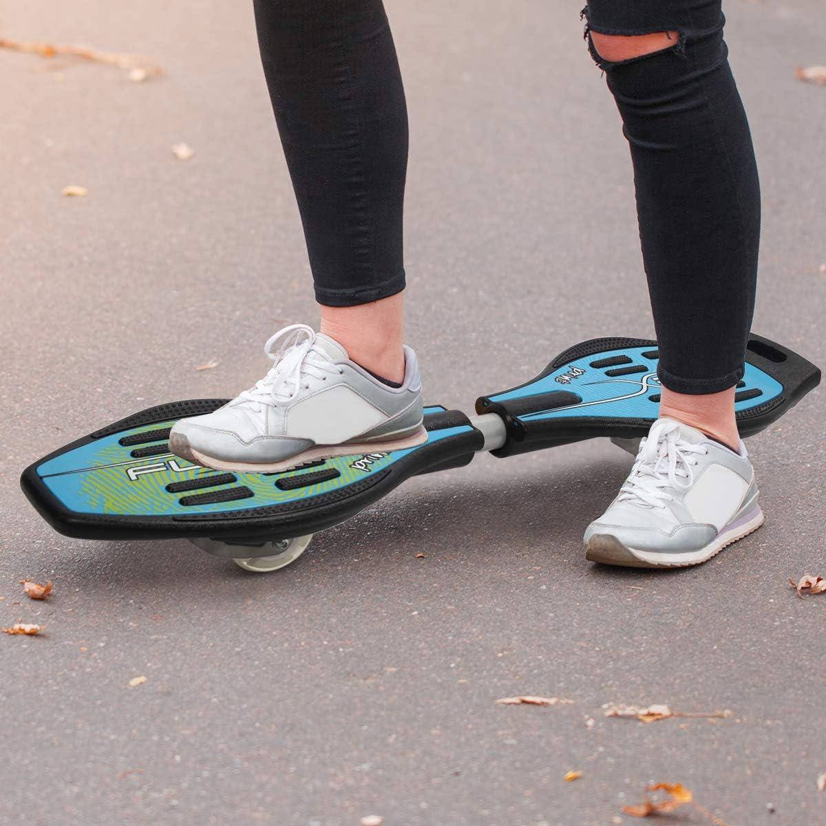 Jeunes et Adultes avec Les Roues PU Noir//Bleu//Rouge Goplus Skateboard Planche /à roulettes pour Les Enfants Bleu