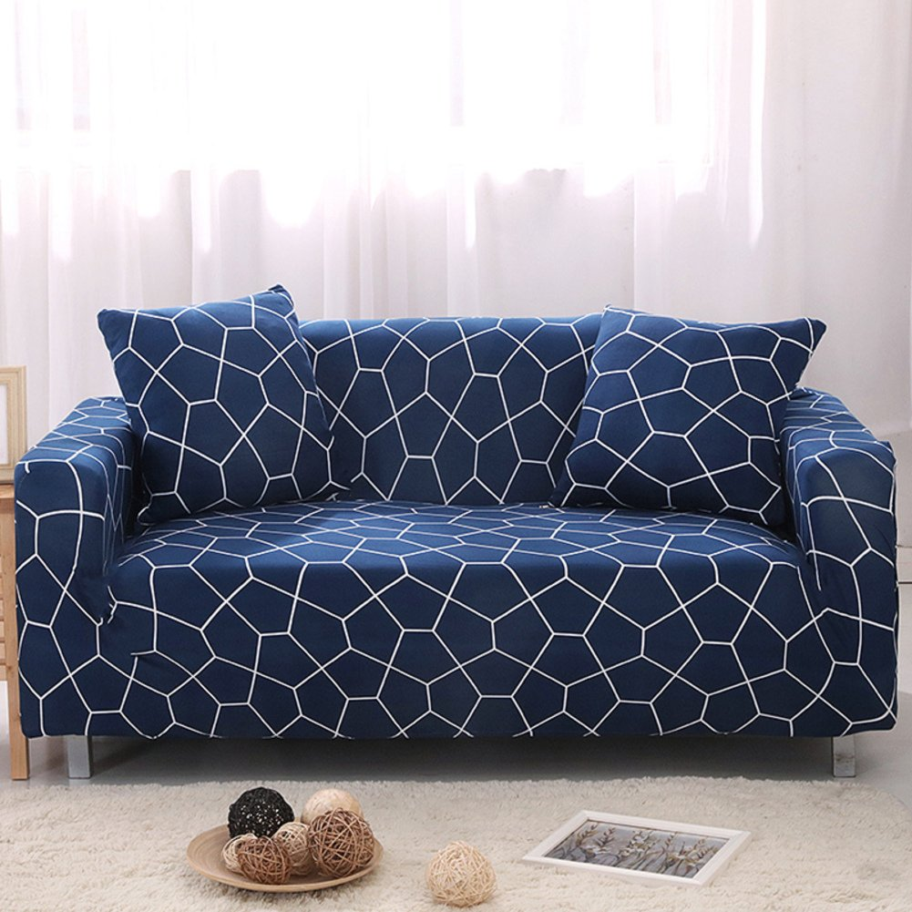 MAXWOW Stretch Sofa Cover for Pets, Anti-Slip Quilted 1-Piece Polyester Spandex All-Inclusive Couch Cover Living Room -P Sofa