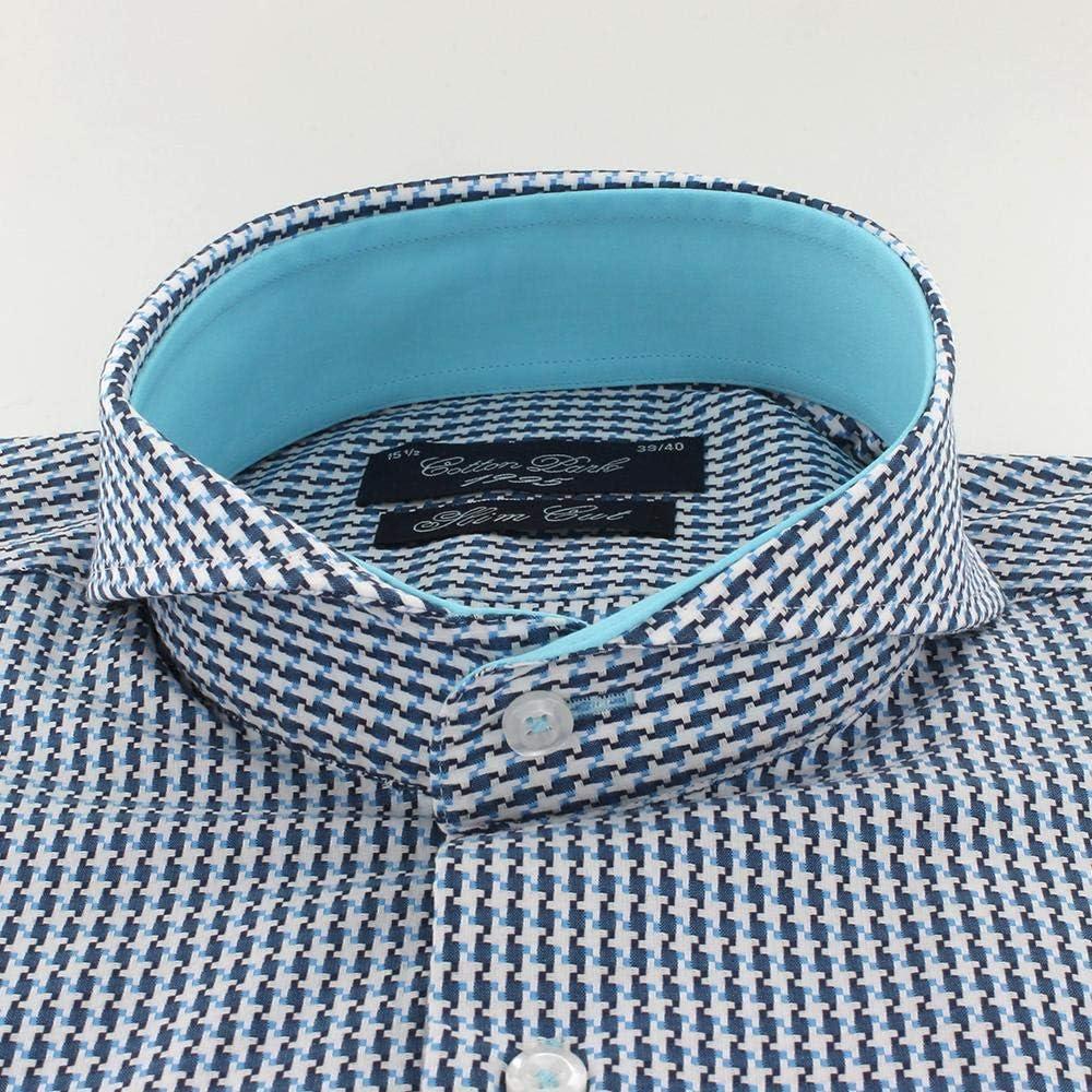 Cotton Park Cutaway - Camisa de Cuello para Hombre, Color Turquesa ...